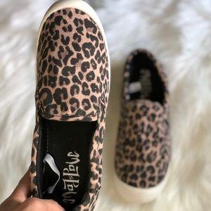 Mad Love Cheetah Plimsoll Slip ons